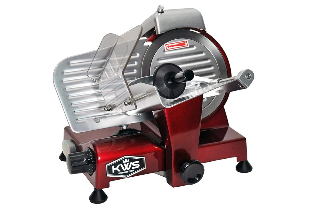 KWS Premium 200w Electric Meat Slicer with Stainless Steel Blade