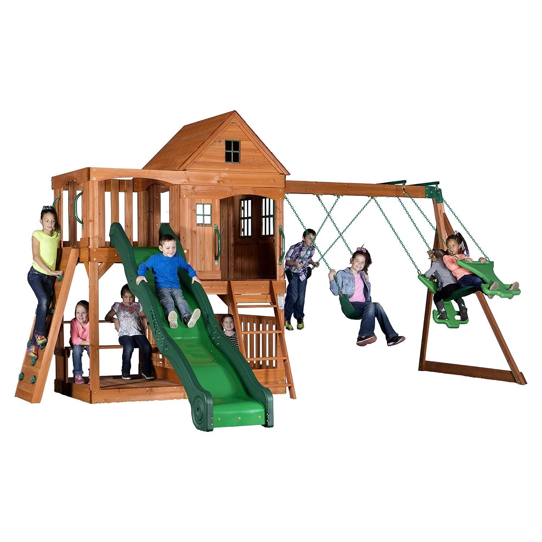 Meadowvale Wooden Swing Set Bestter Choices Bestter Living