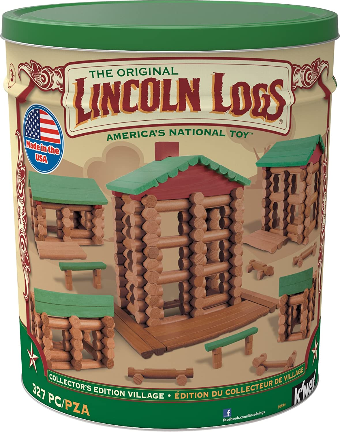 LINCOLN LOGS –Collector's Edition Village – 327 Pieces – For