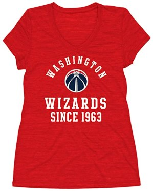 NBA Washington Wizards Women's Curvy Multicount Short Sleeve V- Neck Tee, 1X, Red