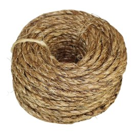 A coil of twisted manila hemp rope