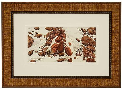 Bev Doolittle Pintos Hide Seek Art Printb Matted Framed