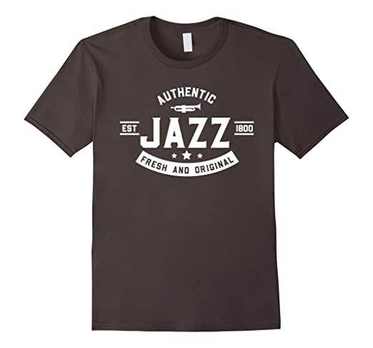 Mens Authentic Jazz - Fresh and Original T-shirt 2XL Asphalt