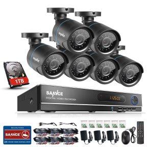 Exemple de système DVR SANNCE 8CH Vidéo Surveillance Enregistreur