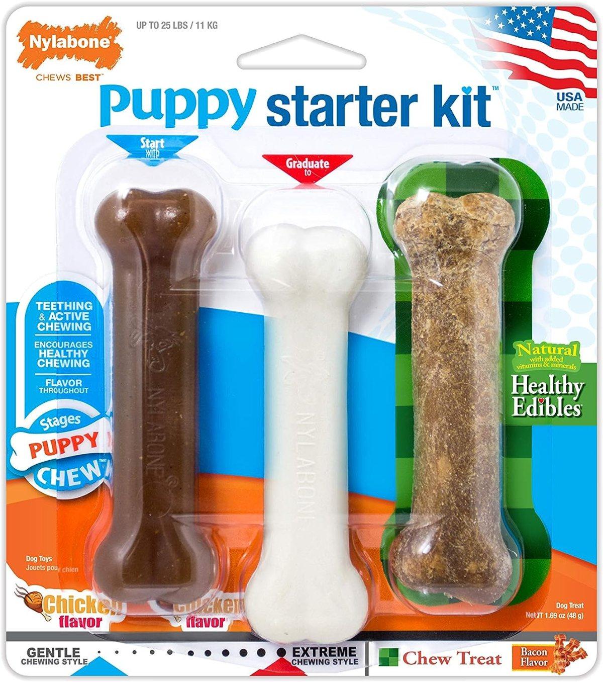 Nyla Bone Puppy Starter Kit (3 unidades)