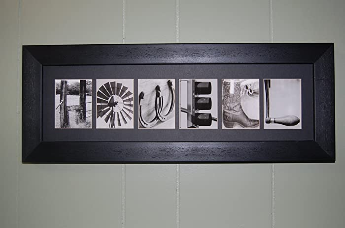 Framed Matted Alphabet Photography Art Photo Letter Plaque Pictures Personalized Name Wedding Gift