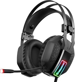 Mifanstech V-10 Gaming Headset for Xbox One Playstation 2 PS4 PC - 3.5mm Surround Sound, Noise Reduction Game Headphone with Microphone and Volume Control for Laptop, Tablet,Switch Games