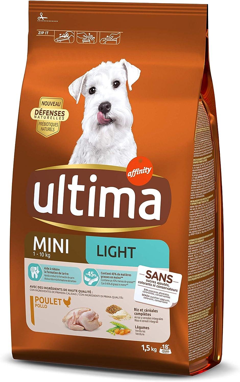 ultima Pienso para Perros Mini Light con Pollo - 1.5 kg