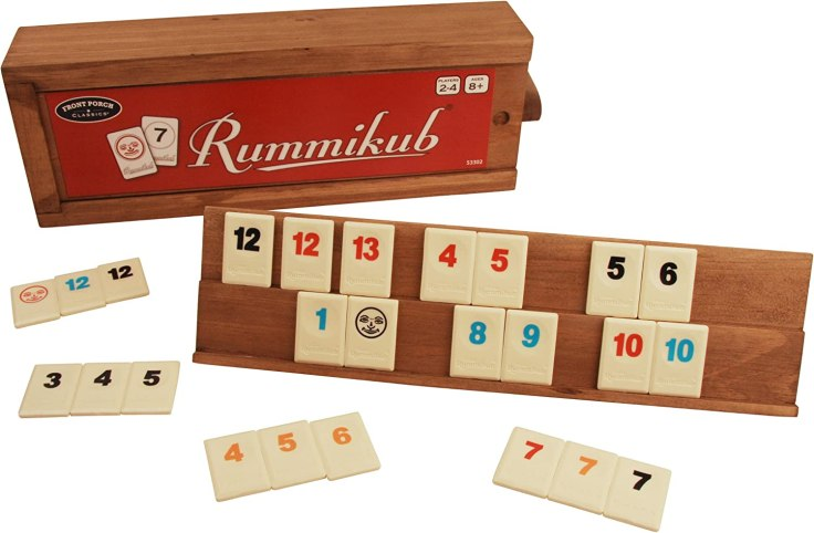 Amazon.com: Front Porch Classics Rummikub, Rummy Tile Board Game ...