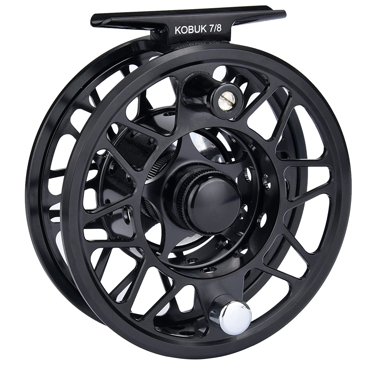 KastKing Kobuk Fly Fishing Reel with Large Arbor, CNC machined T6061 Aluminum Alloy Body and Spool in Fly Reel Sizes 3/4, 5/6, 7/8, 9/10