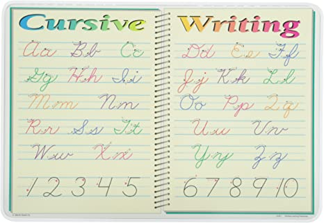 Amazon Com Cursive Writing Placemat From M Ruskin Toys Games