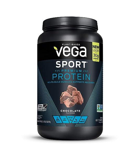 Vega Sport Protein Powder Chocolate(19 Servings, 29.5oz) - Plant-Based Vegan Protein Powder, BCAAs, Amino Acid, tart cherry, Non Dairy, Gluten Free, Non GMO (Packaging May Vary)