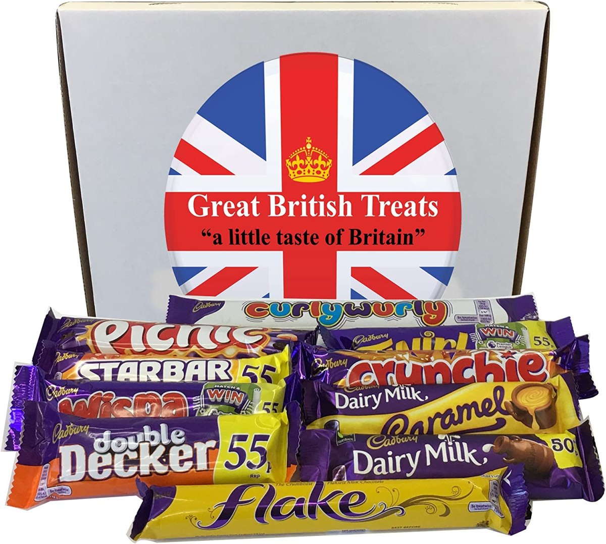 Cadbury Selection Box of 10 Full Size British Chocolate Bars from Great  British Treats: Amazon.ca: Grocery