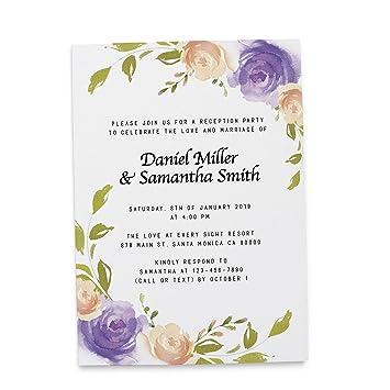 Fl Wedding Invitation Cards By Loveateverysight Marriage Reception Post