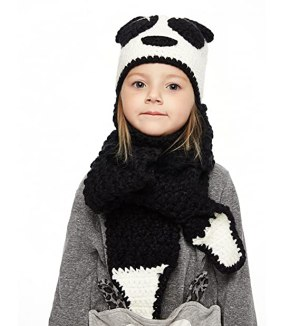 Sumolux Winter Kids Warm Fox Animal Hats Knitted Coif Hood Scarf Beanies for Autumn Winter