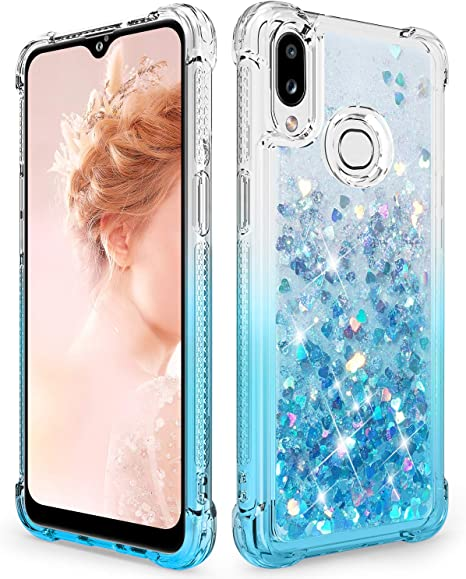 Amazon Com Dzxouui For Samsung A10s Case Galaxy M01s Case Girls Women Tpu Clear Cover Protective Moving Quicksand Glitter Bling Sparkle Cute Phone Cases For Samsung Galaxy A10s M01s Gradient Teal