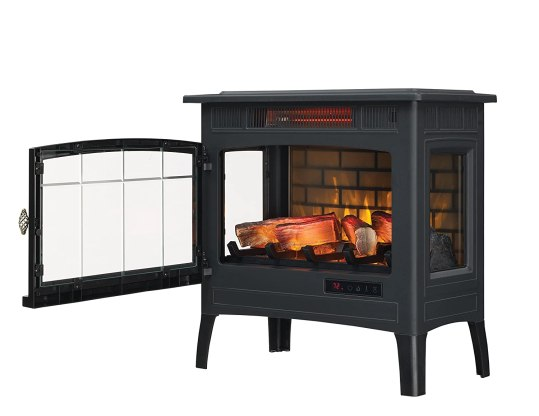Duraflame Electric Infrared Quartz Fireplace Stove with 3D Flame Effect amazon
