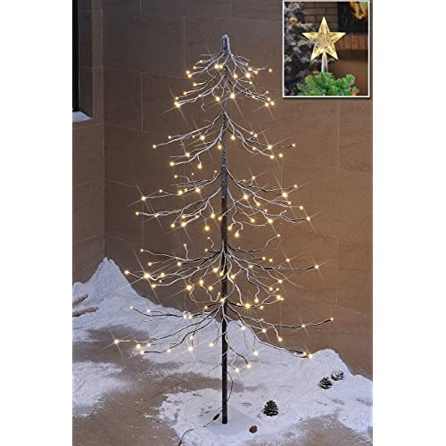 Lightshare Snowy Fir Tree  Led Lights For Indoor And Outdoor Use Warm