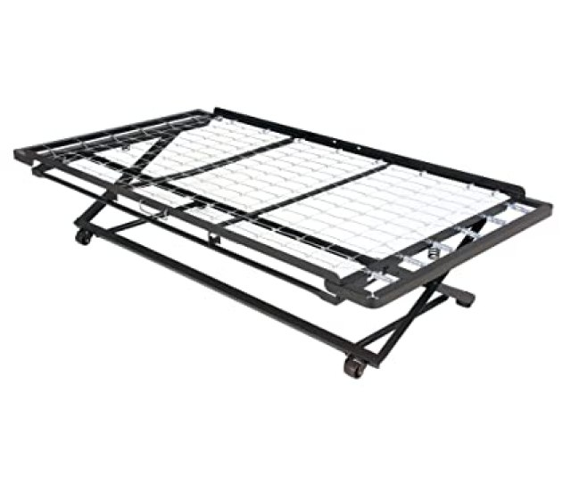 Amazon Com Leggett Platt Pop Up 39 Inch Link Spring Trundle Bed With Dual Gravity Locks Twin Kitchen Dining