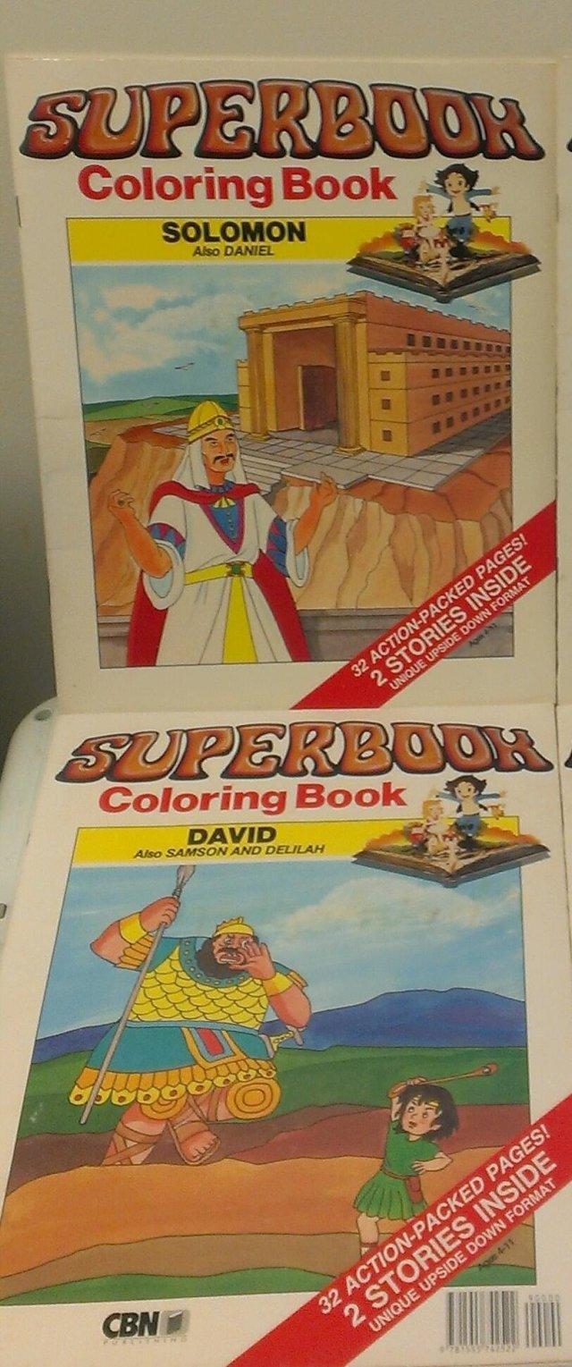 28 Volumes of Superbook Coloring Books: Samson & Deliah/David and