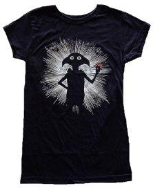 Harry Potter Dobby Magic Juniors Black T-shirt S