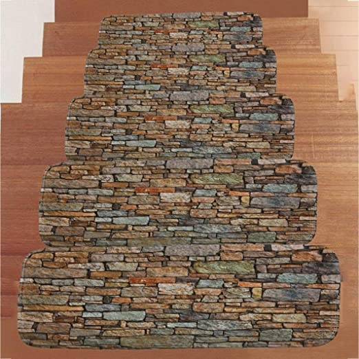 Amazon Com Stair Treads Transer Indoor Phosphor Stone Pattern | 7 Inch Carpet Stair Treads | Indoor Outdoor | Non Slip | Slip Resistant | Rug Styles | Tread Covers