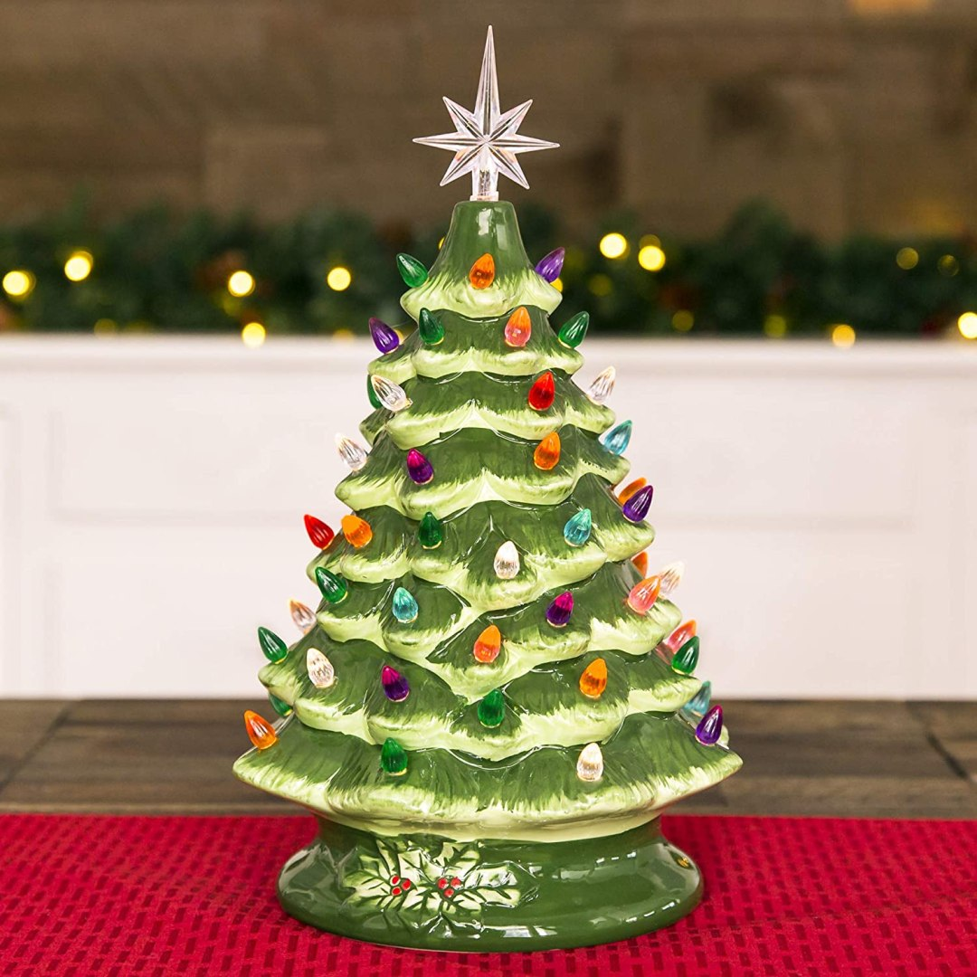 Nostalgic Ceramic Christmas Tree Decorations & Prints