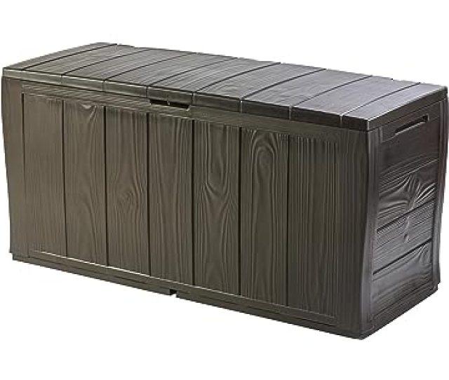 Keter Sherwood Outdoor Plastic Storage Box Garden Furniture  X 57 5 Cm