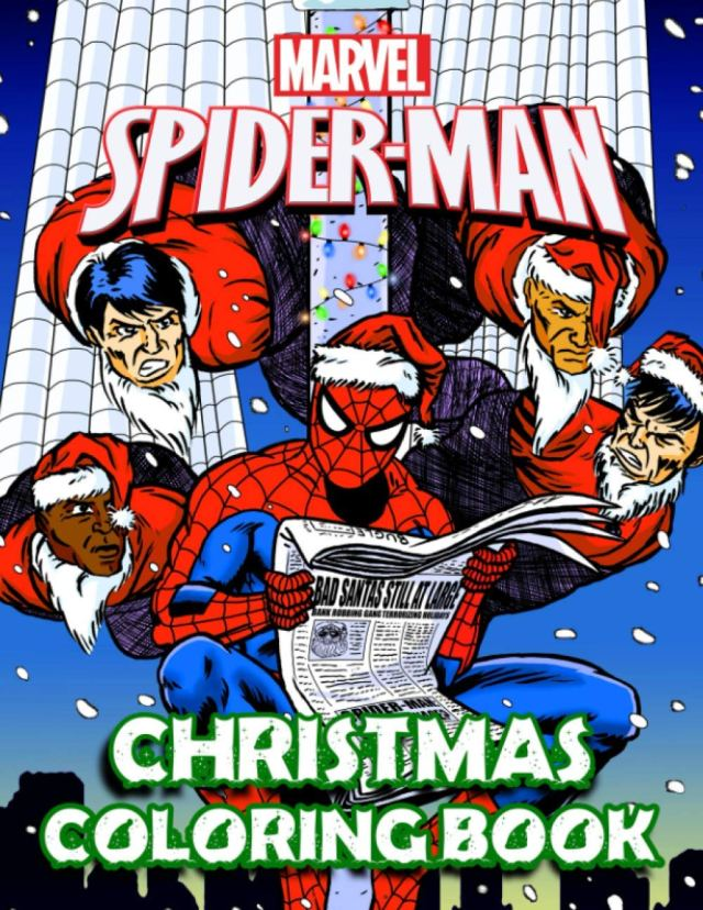 Spiderman Christmas Coloring Book: A Christmas Coloring Book For