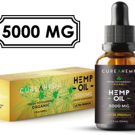 Pure Hemp Oil Extract for Pain Relief, Anxiety and Sleep Support – 5000MG Full Spectrum Raw and Organic Blend (1M Spply, 1 Fl Oz)