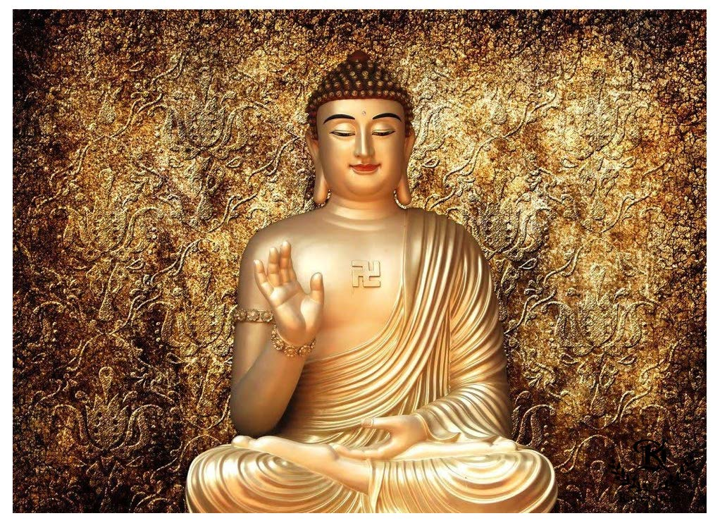 Buy Kayra Decor Lord Buddha 3d Print Wallpaper Decal Indoor Wall Mural For Living Room Bedroom Ruby Paper Online At Low Prices In India Amazon In