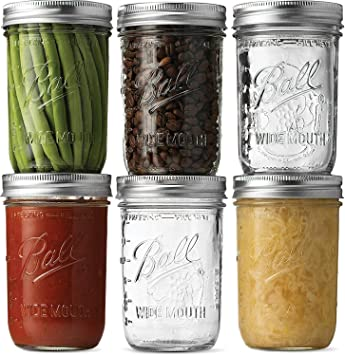 Ball Wide Mouth Mason Jars (16 oz/Capacity) [6 Pack]