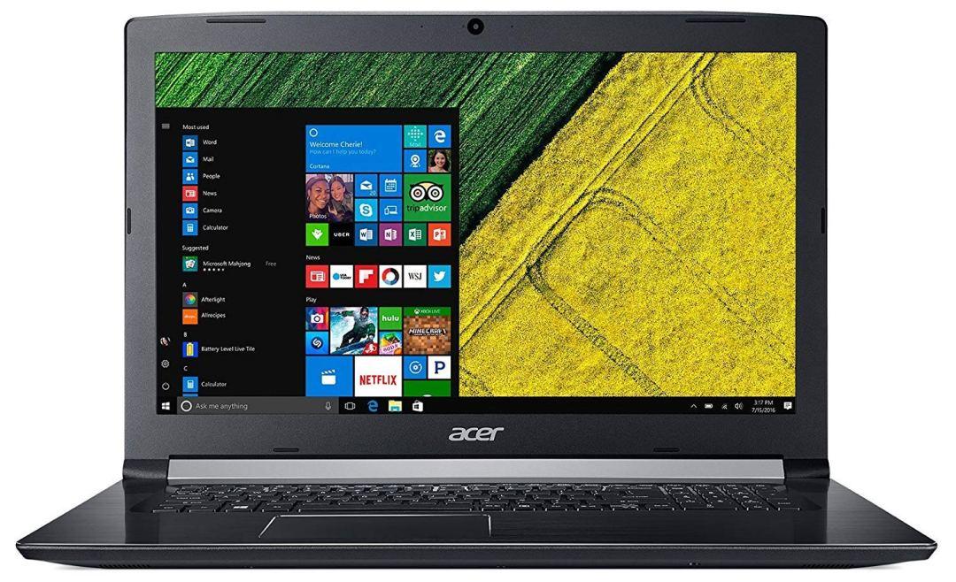 """Acer Aspire A517-51-31VZ Ordinateur portable 17,3"""" HD Noir (Intel Core i3, 4 Go de RAM, Disque Dur 1 To, Intel HD Graphics, Windows 10) [Ancien Modèle]"""