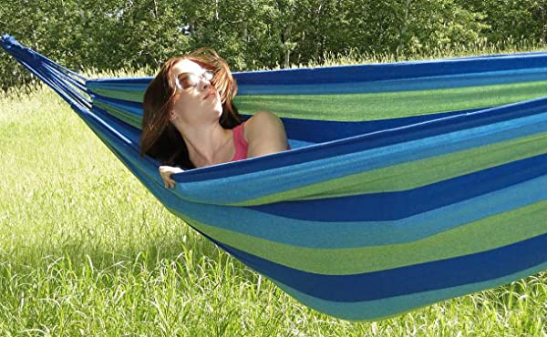 Hammock Sky® Brazilian Hammock - Two Person Double for Backyard, Porch, Outdoor or Indoor Use - Portable for Camping