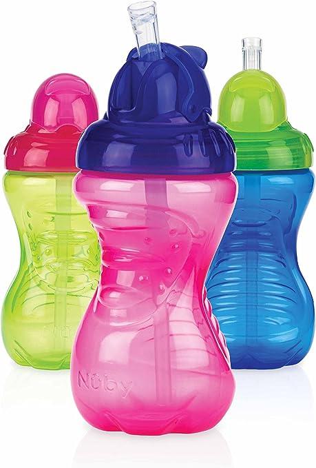 Nuby Flip It Straw Baby Bottle