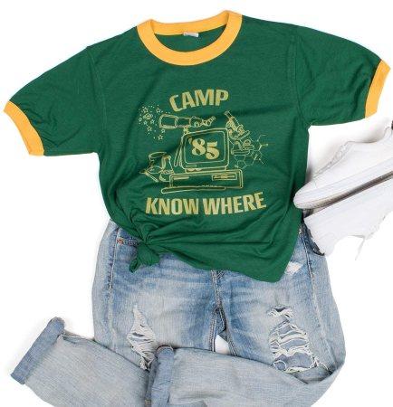 TeesAndTankYou Camp Know Where Ringer Tee Shirt Halloween TV Show Unisex