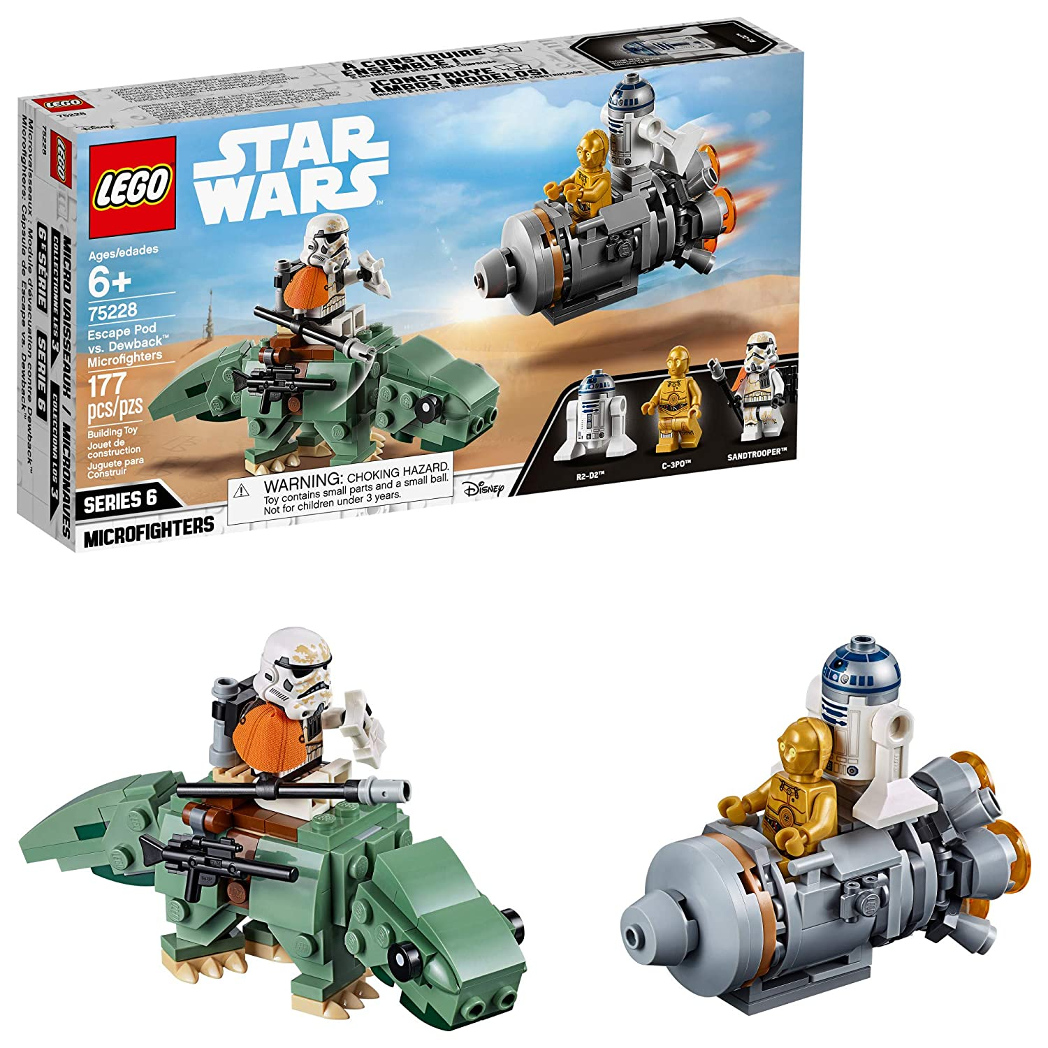 Lego Star Wars A New Hope Escape Pod Vs Dewback Microfighters 75228 Building Kit 2019 177 Pieces