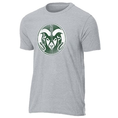 NCAA Colorado State Rams Ouray Sportswear Vintage Sheer Short Sleeve Tee, Medium
