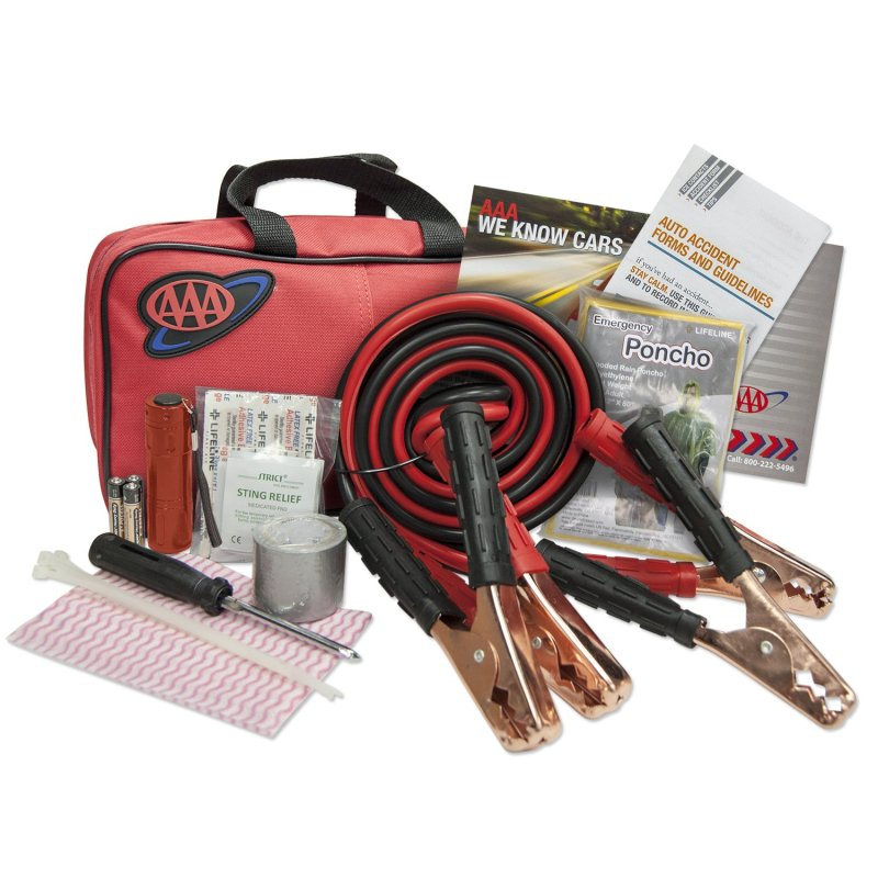 Emergency road assistance kit