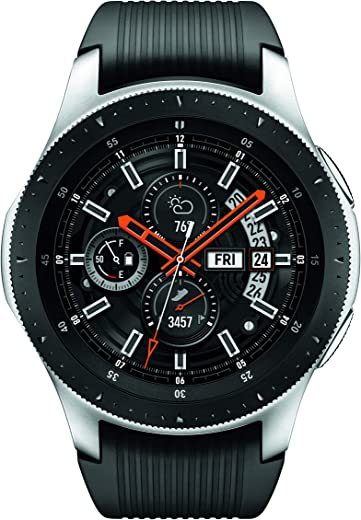 Samsung Galaxy Watch smartwatch (46mm, GPS, Bluetooth) – Silver/Black (US Version with Warranty)