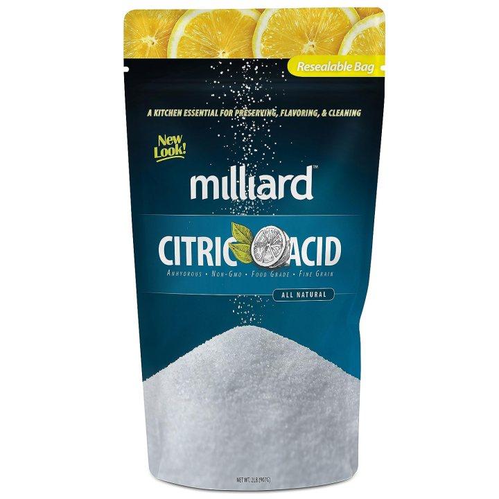 Milliard Citric Acid - 2 Pound - 100% Pure Food Grade NON-GMO