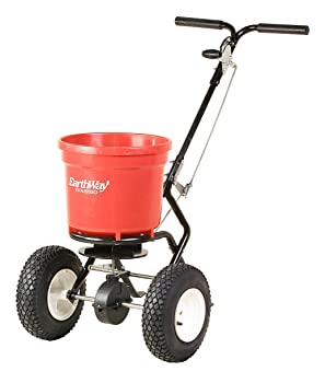 Earthway 2150 Commercial 50-Pound Walk-Behind Broadcast Spreader, Garden Seeder, Salt Spreader
