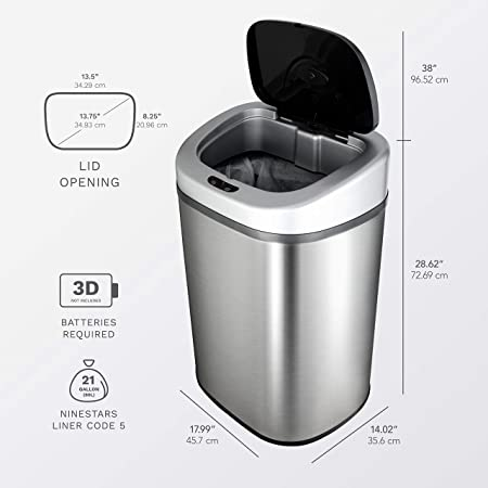 NINESTARS-Automatic-Trash-Can-Review