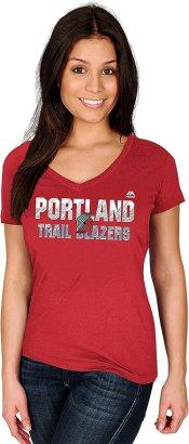 NBA Portland Trail Blazers Women's Short Sleeve V-Neck Tee