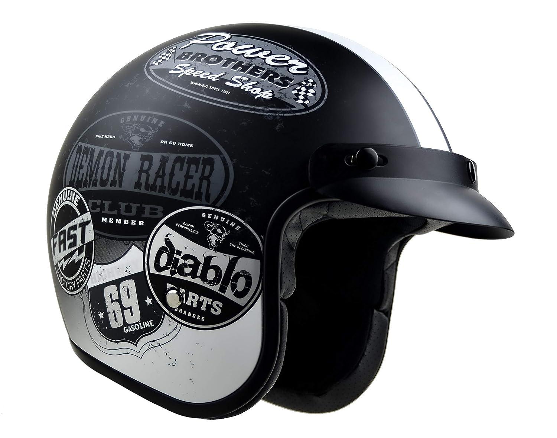 Vega X-380 Open Face Helmet with Old Skool Graphic