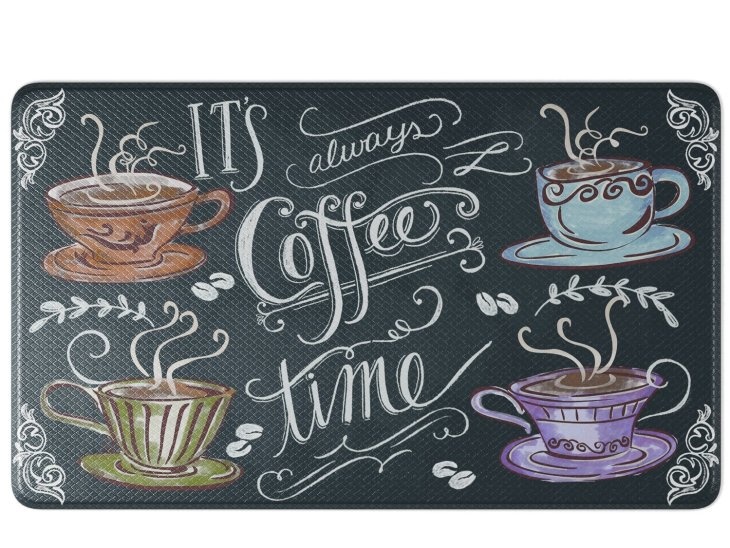 Coffee Decor for Coffee Lovers | It's Always Coffee Time Anti-Fatigue Floor Mat