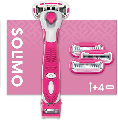 Amazon Brand - Solimo Female 5 Blade Razor with 3-in-1 Trimmer and 4 Blades:  Amazon.co.uk: Health & Personal Care - best razors for women with sensitive skin