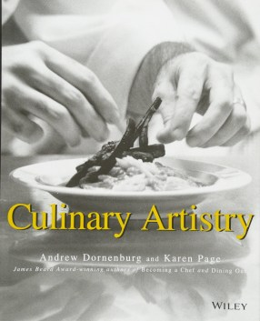 Image result for Culinary Artistry (1996) by Karen Page and Andrew Dornenburg