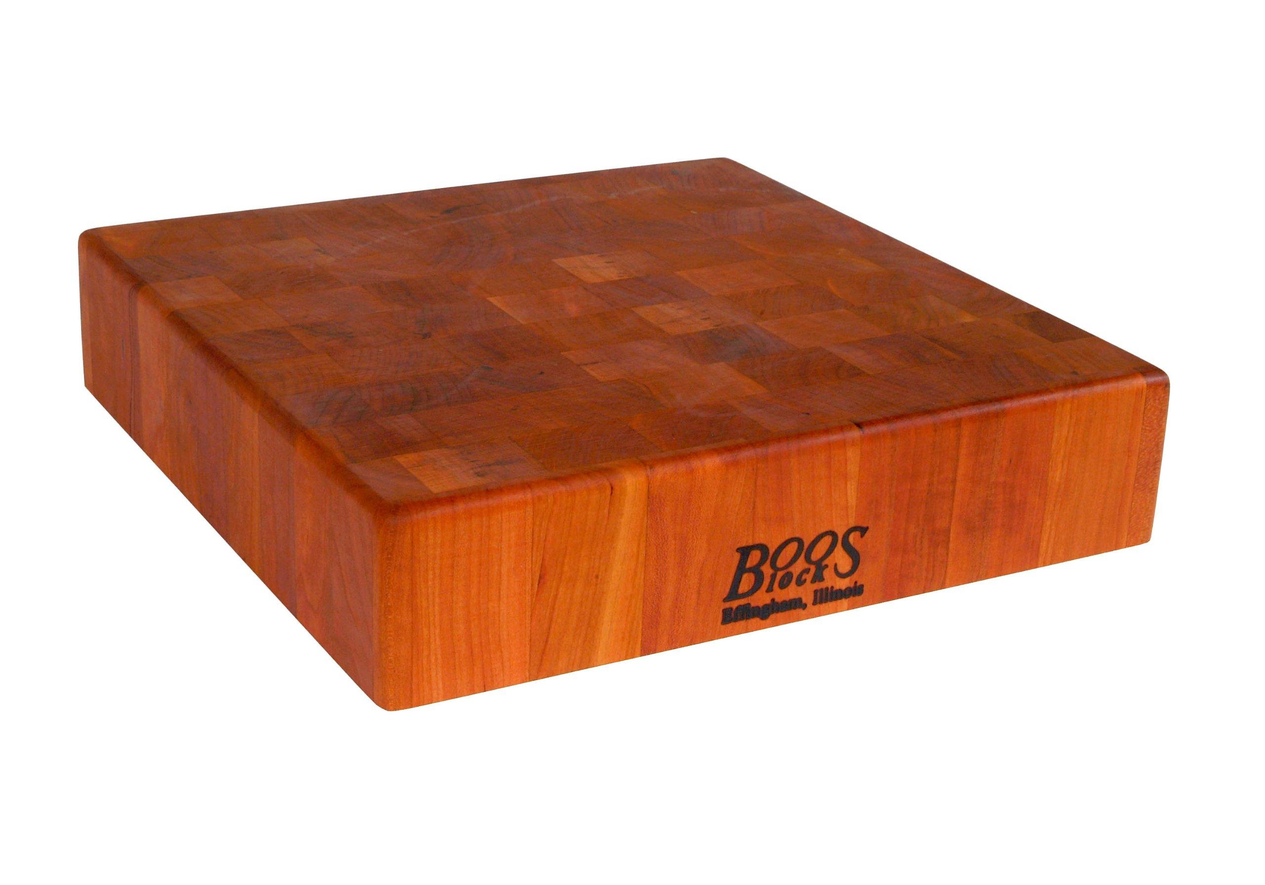 john-boos-cherry-wood-end grain-butcher-block-best-wood-cutting-boards-reviews