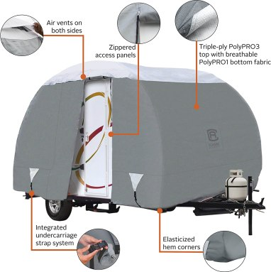 Classic Accessories OverDrive PolyPro 3 Deluxe Teardrop R-Pod Travel Trailer Cover